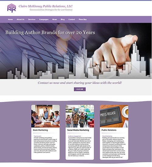 Web Site Sample Public Relations FIrm