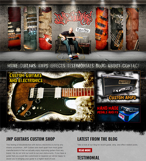 Web Site Sample Guitar Manufacturer
