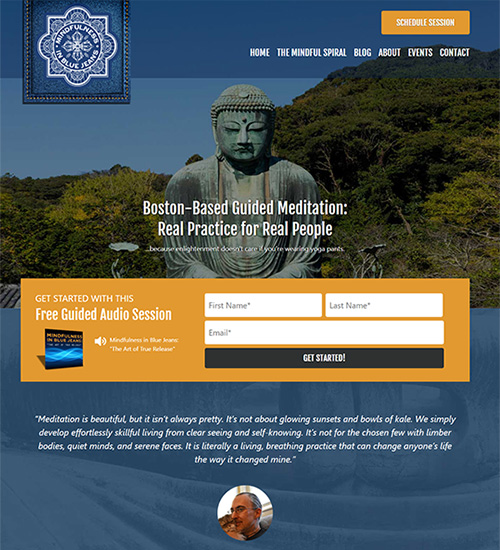 Web Site Sample Guided Medidation