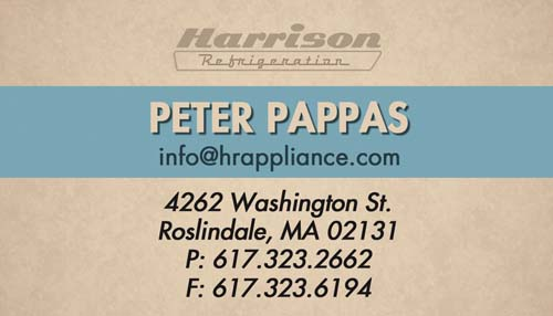 Appliance Store Business Cards