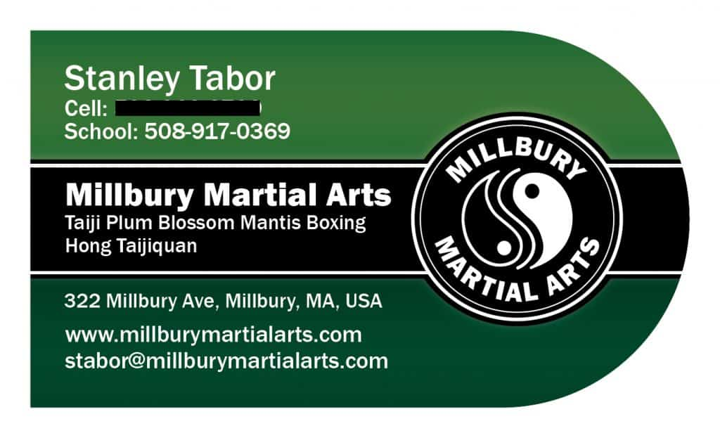 Martial Arts Studio Business Cards