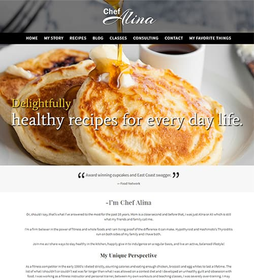 Chef Alina Website
