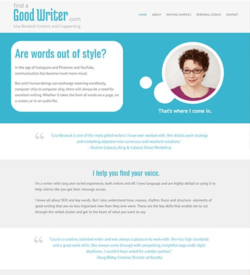 Copy Writer Website