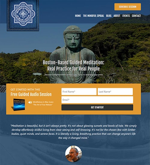 Guided Meditation Website