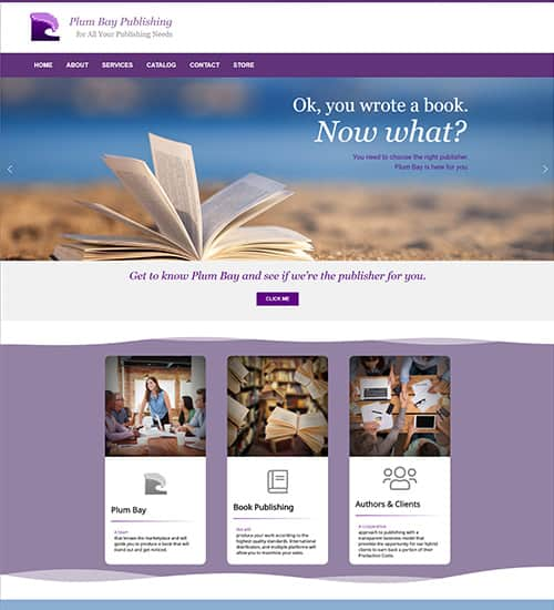 Book Publishing Website