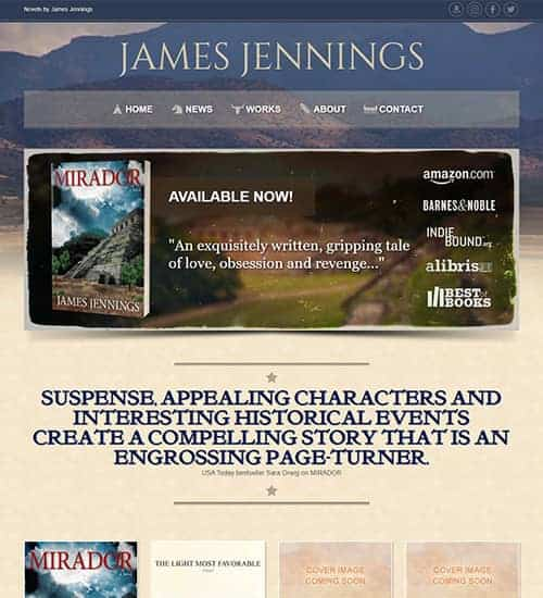 Author Website Web Design Portfolio